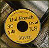 UNI  French Tinsel - oval - 30 yds in silber